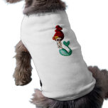 Day of The Dead Shy Mermaid Beauty Dog T Shirt