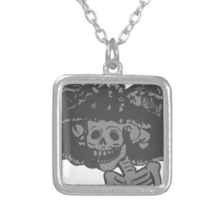 Day Of The Dead Silver Plated Necklace
