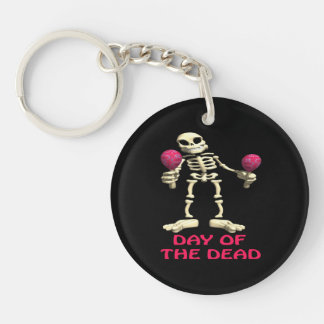 Day Of The Dead Single-Sided Round Acrylic Keychain