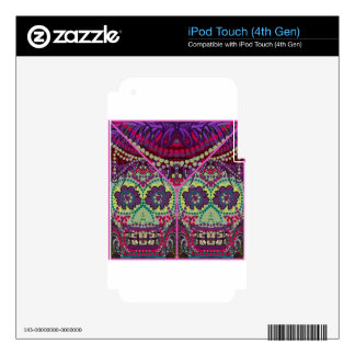 Day of the Dead SistersDia do Muertos Sugar Skulls Decal For iPod Touch 4G