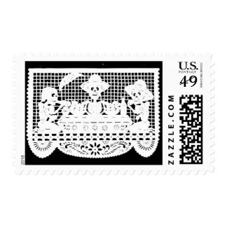 Day of the Dead - Skeleton Banquet Stamp