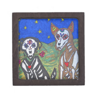 Day of the Dead Skeleton Dogs Gift Box