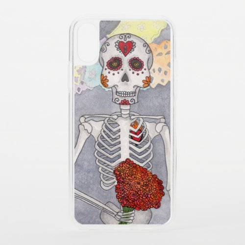 Day of the Dead Skeleton iPhone XS Case