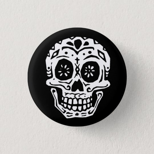 Day Of The Dead Skull 2 Button