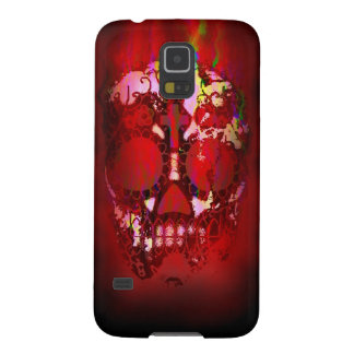 Day of the Dead Skull and Fire Galaxy S5 Cover