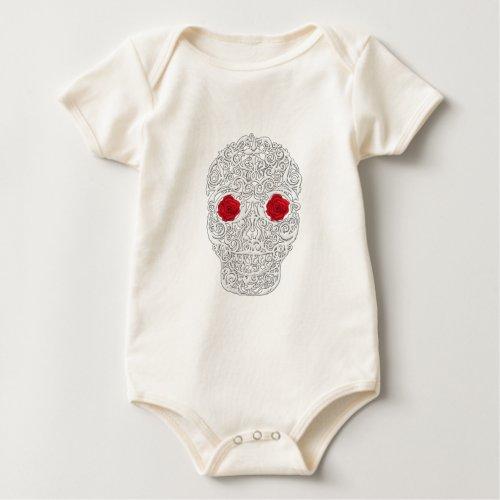 Day of the Dead Skull Baby Bodysuit