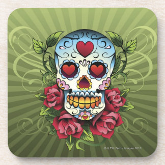 Day of the Dead Skull Beverage Coaster