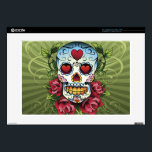 "Day of the Dead Skull Decal For 15&quot; Laptop<br><div class=""desc"">Day of the Dead skull 