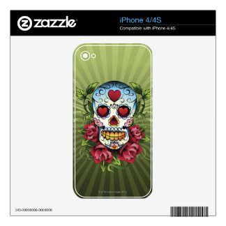 Day of the Dead Skull Decal For iPhone 4S