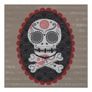 Day of the Dead Skull Día de los Muertos calaveras Print