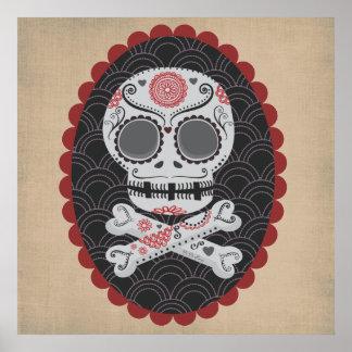 Day of the Dead Skull Día de los Muertos calaveras Poster