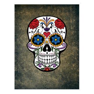Day of the Dead Skull Día de Muertos Mexico Postcard