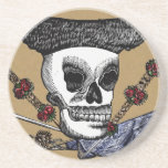 Day of the Dead Skull Drink Coasters