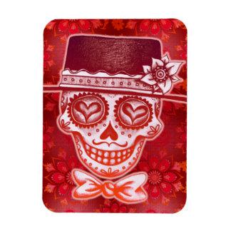 Day of the Dead Skull Gentleman Premium Magnet