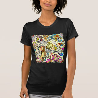 Day Of The Dead Skull Guitar Player T-Shirt