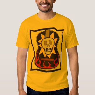 Day of the Dead Skull Guitar Tee Shirt