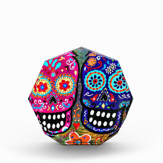 Day of the Dead Skull Heads Acrylic Award