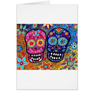 Day of the Dead Skull Heads Card