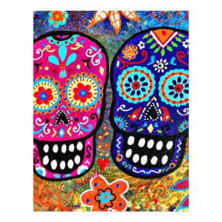 Day of the Dead Skull Heads Letterhead