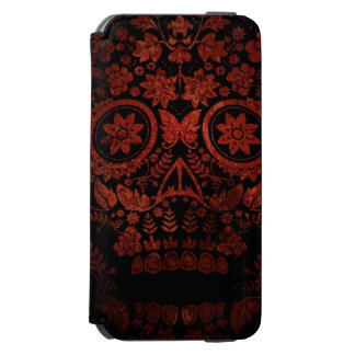 Day of the dead skull iPhone 6/6s wallet case