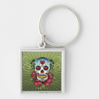 Day of the Dead Skull Key Chain
