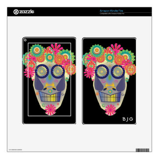Day of the Dead Skull Kindle Fire Skin