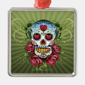 Day of the Dead Skull Christmas Tree Ornament