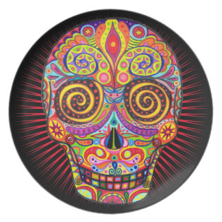 Day of the Dead Skull Plate
