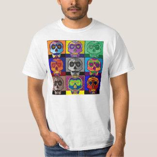 Day of the Dead Skull Pop Art T-shirt