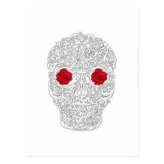 Day of the Dead Skull Postcard