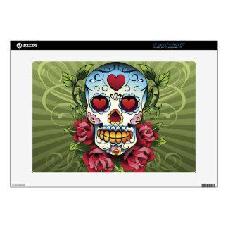 """Day of the Dead Skull 15"""" Laptop Skins"""