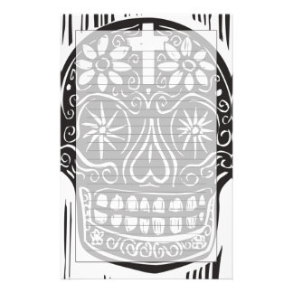 Day Of The Dead Skull Stationery
