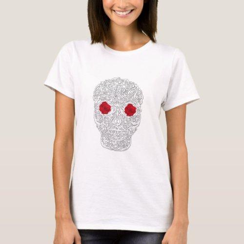 Day of the Dead Skull T_Shirt