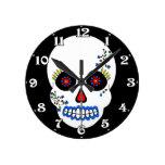 Day of the Dead Skull Wall Clock