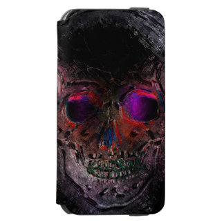 Day of the Dead Skull with Rebel & Mexican Flags iPhone 6/6s Wallet Case