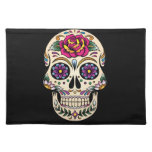 Day of the Dead Skull with Rose Place Mats