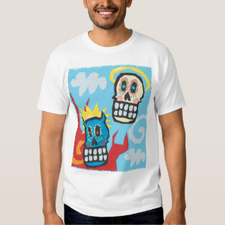Day of the Dead Skulls Angle and Devil Tshirts