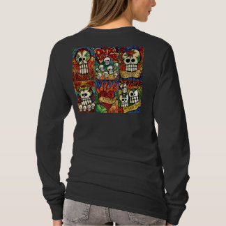 Day of the Dead Skulls / Flaming Heart Shirt