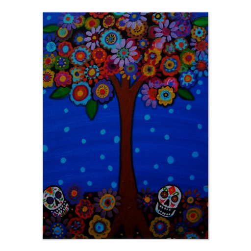 day of the dead skulls posters