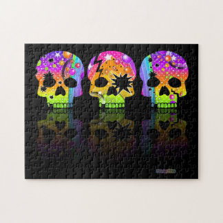 Day of the Dead Skulls Puzzle