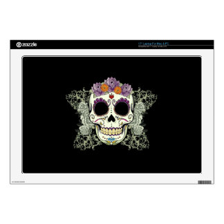 "DAY OF THE DEAD SUGAR SKULL 17"" LAPTOP DECALS"