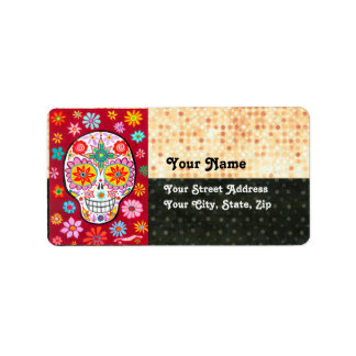 Day of the Dead Sugar Skull Address Labels