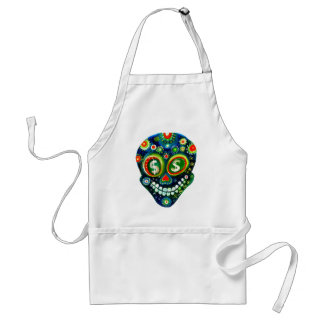 Day Of The Dead Sugar Skull Art Adult Apron