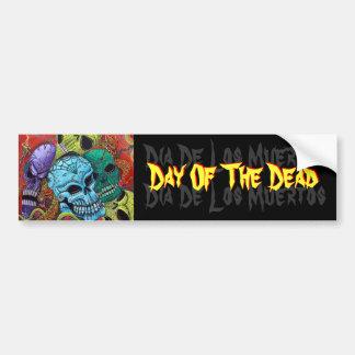 Day Of The Dead / Sugar Skull Art Bumper Sticker