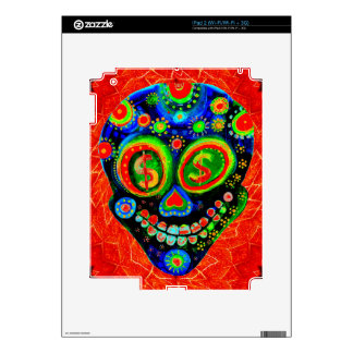 Day Of The Dead Sugar Skull Art Decal For iPad 2