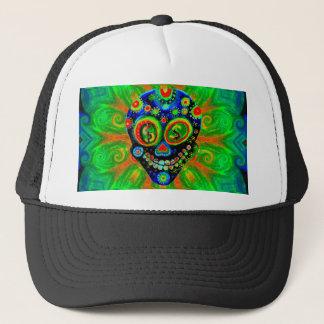 Day Of The Dead Sugar Skull Art Trucker Hat