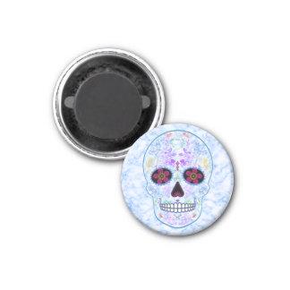 Day of the Dead Sugar Skull - Baby Blue Refrigerator Magnets