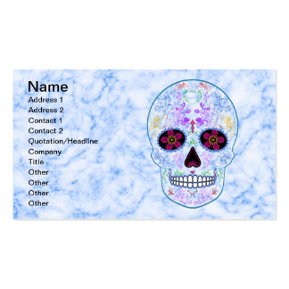Day of the Dead Sugar Skull - Baby Blue & Multi Business Card