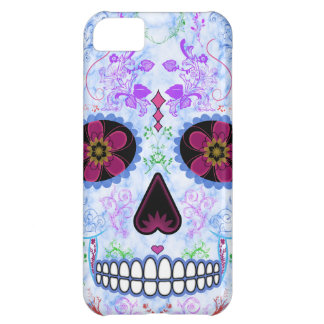 Day of the Dead Sugar Skull - Baby Blue Multi Cover For iPhone 5C