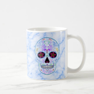 Day of the Dead Sugar Skull - Baby Blue & Multi Mug
